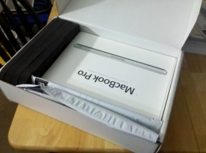 "Unboxing my ""new"" Macbook Pro"
